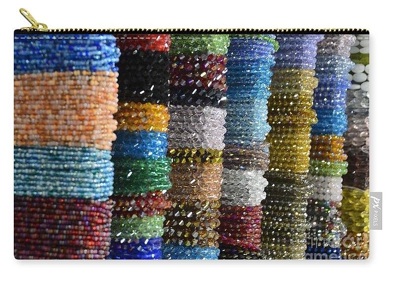 Beads Carry-all Pouch featuring the photograph Strings Of Color by Randy J Heath