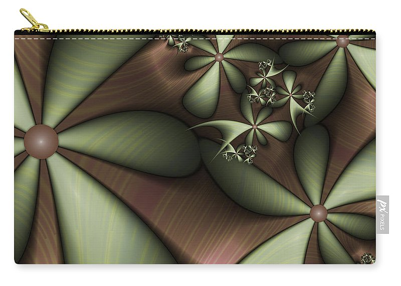 Fractal Carry-all Pouch featuring the digital art Striped 2 by Gabiw Art