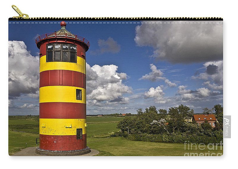 Heiko Carry-all Pouch featuring the photograph Striped Lighthouse by Heiko Koehrer-Wagner