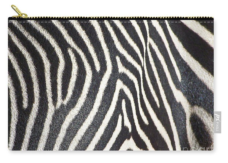 Animals Carry-all Pouch featuring the photograph Stripes And Ripples by Kathy McClure