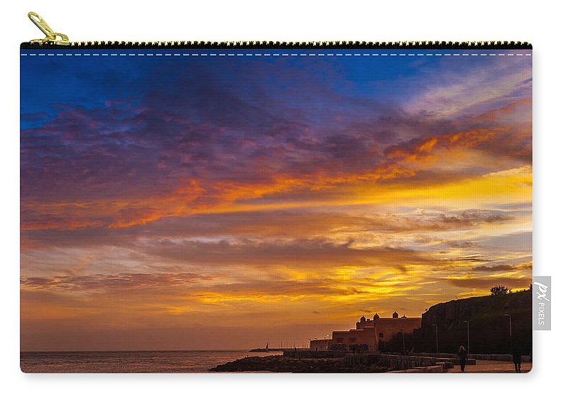 Strokes Of Sunset Carry-all Pouch featuring the photograph Strokes Of Sunset I by Marco Oliveira