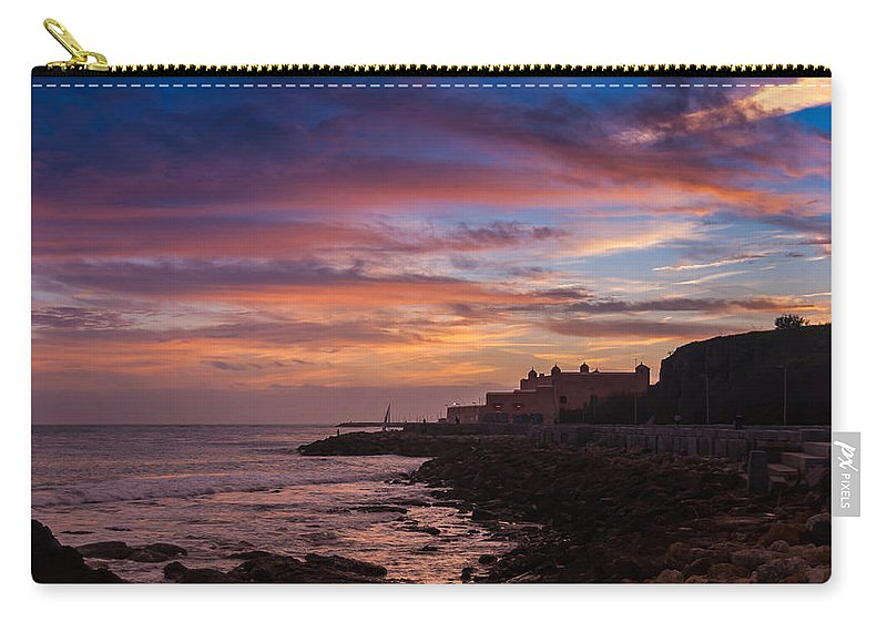 Strokes Of Sunset Carry-all Pouch featuring the photograph Strokes Of Sunset II by Marco Oliveira