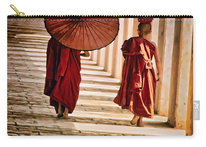 Myanmar Carry-all Pouch featuring the photograph Strolling by Claude LeTien