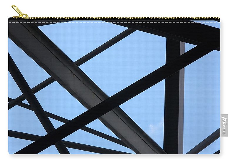 Beams Carry-all Pouch featuring the photograph Structure by Joe Kozlowski