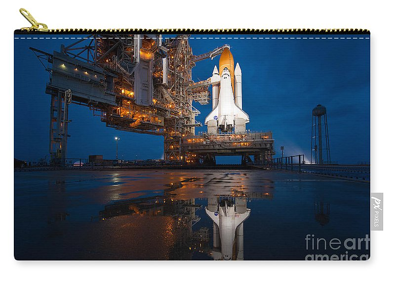 Atlantis Carry-all Pouch featuring the photograph Sts 135 Atlantis Prelaunch by Paul Fearn