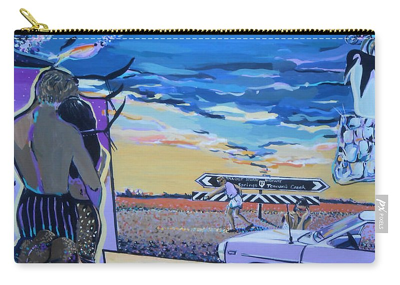 Stuart Highway Carry-all Pouch featuring the painting Stuart Highway by Lucia Hoogervorst