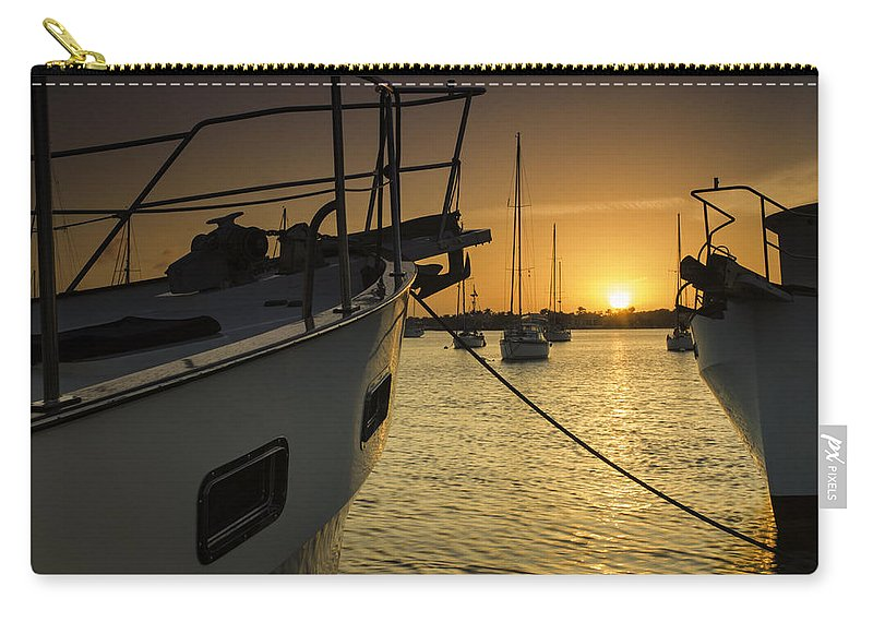 Boats Carry-all Pouch featuring the photograph Stuart Marina by Fran Gallogly