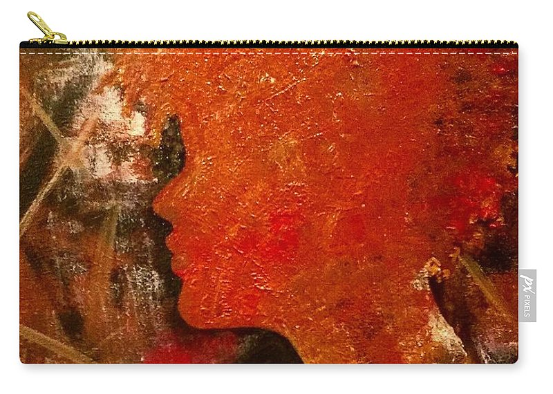 Black Carry-all Pouch featuring the photograph Stuck in Shadows by Artist RiA