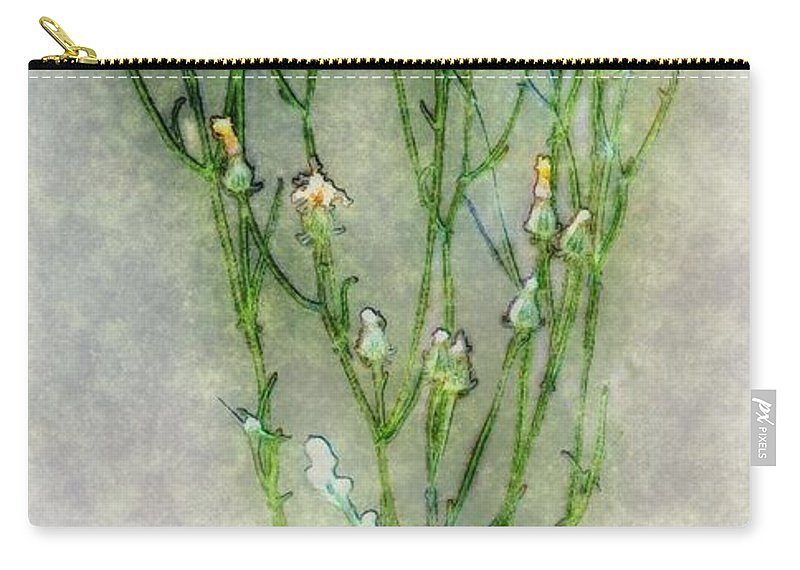 Wildflowers Carry-all Pouch featuring the painting Nature Study In Moonlight by RC DeWinter