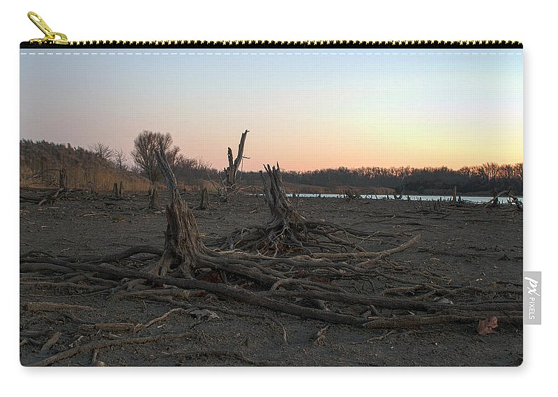 Ice Carry-all Pouch featuring the photograph Stump Field by Thomas Sellberg