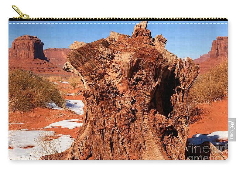 Monument Valley Carry-all Pouch featuring the photograph Stumped At Monument Valley by Adam Jewell