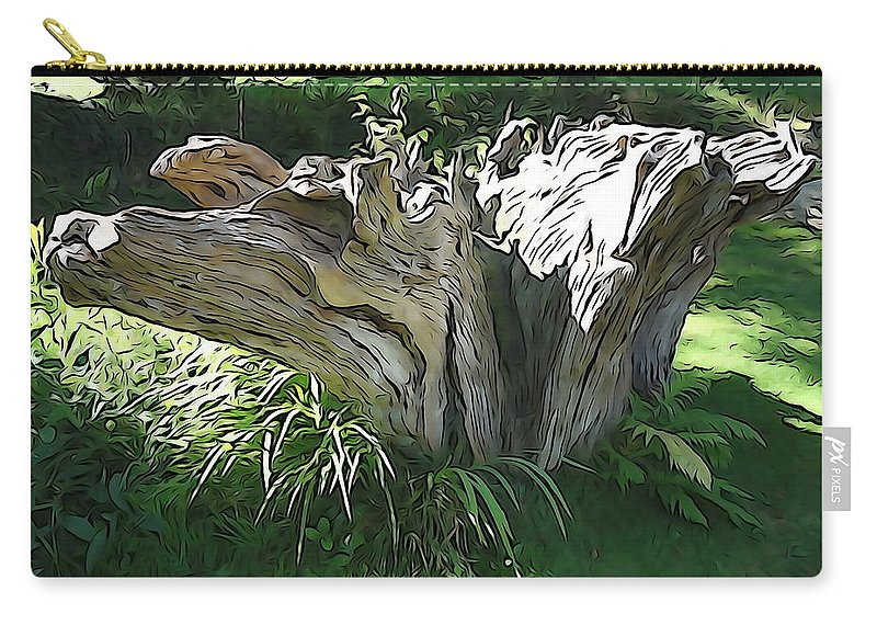 Sun Carry-all Pouch featuring the photograph Stumped by Charlie and Norma Brock