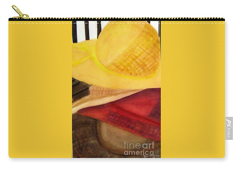 Hats Carry-all Pouch featuring the painting Stylish by Yael VanGruber