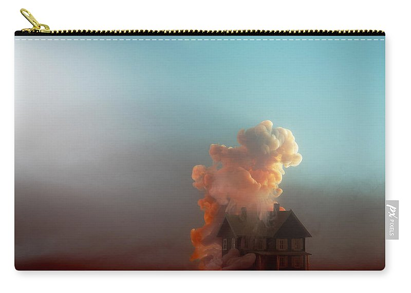 Model House Carry-all Pouch featuring the photograph Submerged House by Paul Taylor