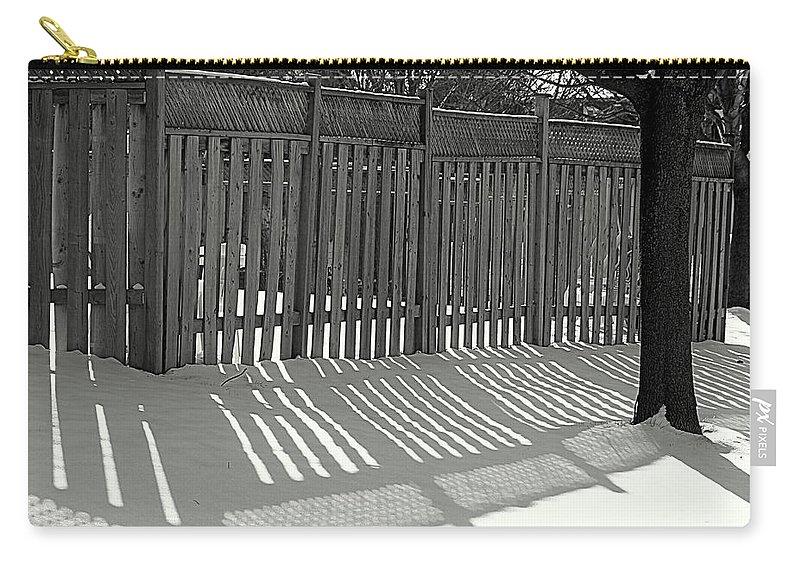 Suburbs Carry-all Pouch featuring the photograph Suburban Winter by Valentino Visentini