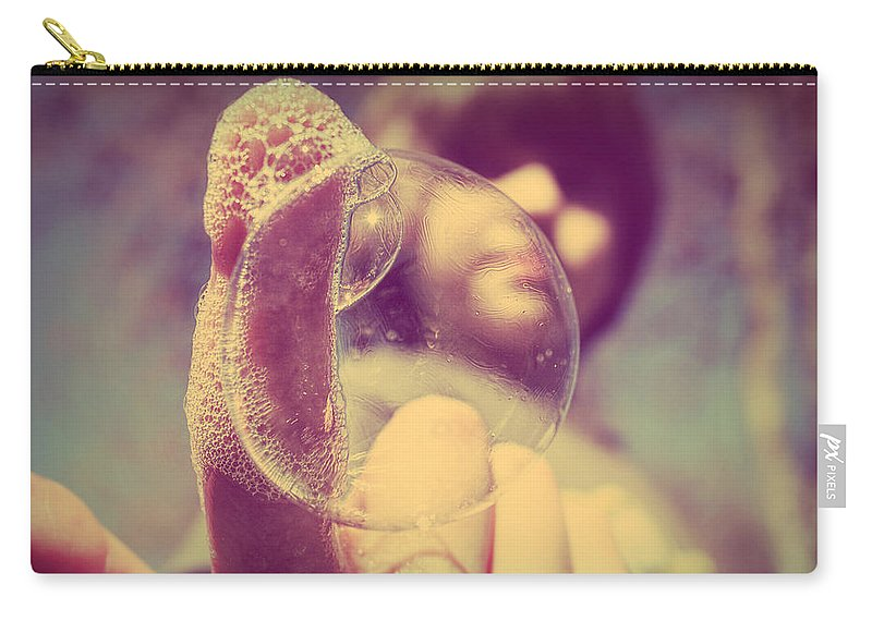 Bubble Carry-all Pouch featuring the photograph Suds And Swirls by Melanie Lankford Photography
