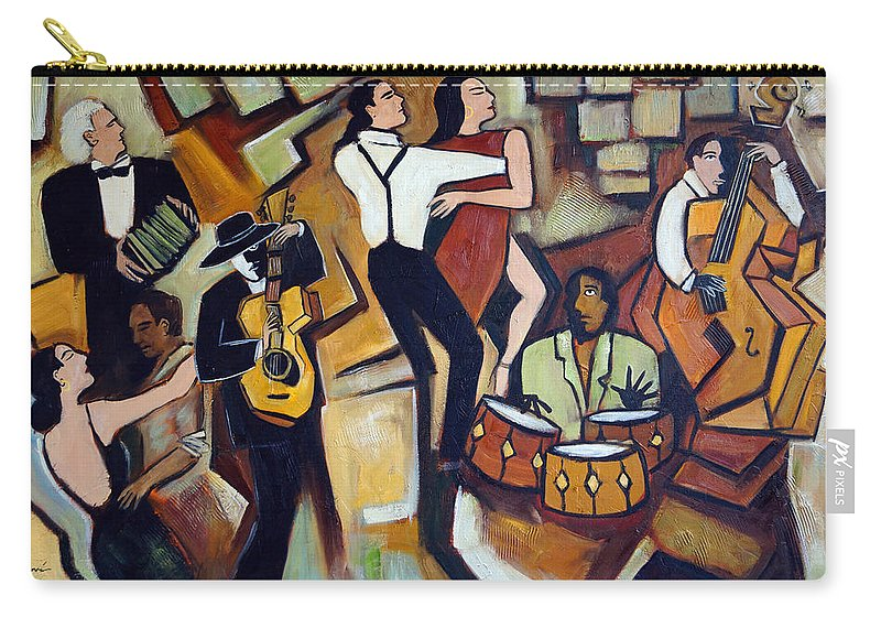 Tango Carry-all Pouch featuring the painting Suenos de Tango by Valerie Vescovi