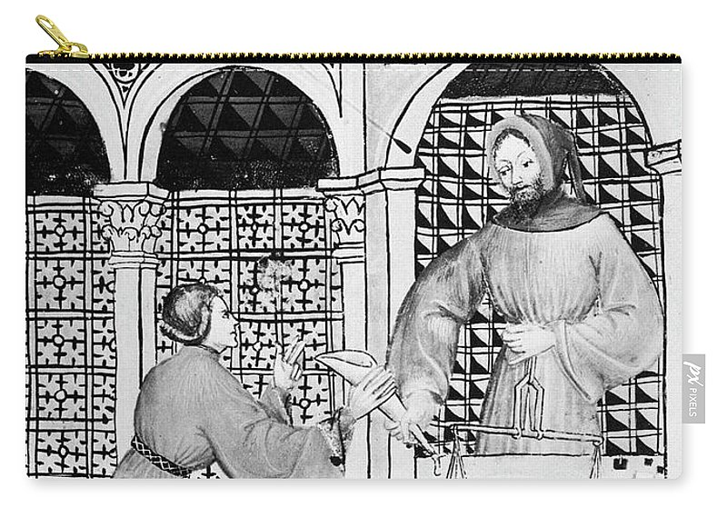 14th Century Carry-all Pouch featuring the painting Sugar, 14th Century by Granger