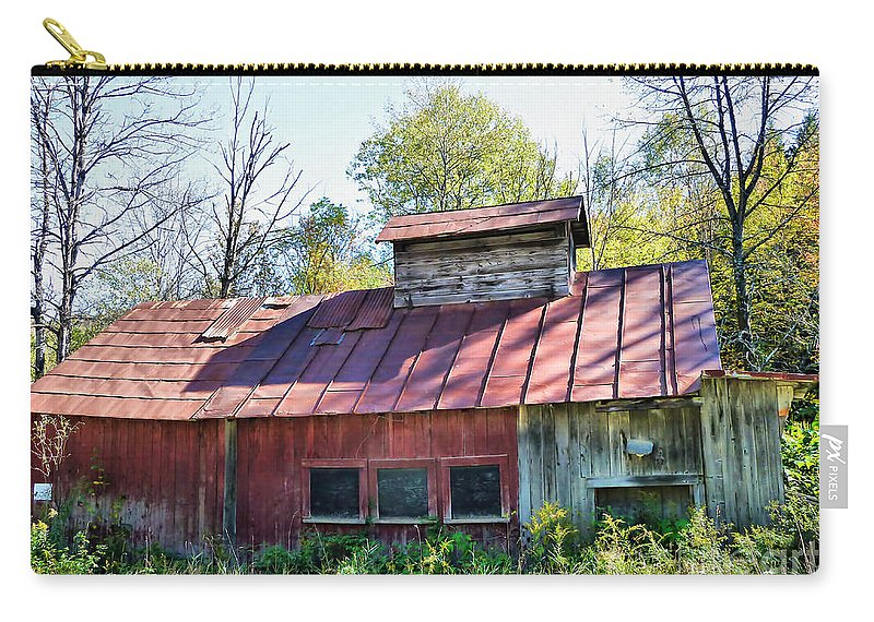 Sugar House Carry-all Pouch featuring the photograph Sugar House Of Old by Deborah Benoit