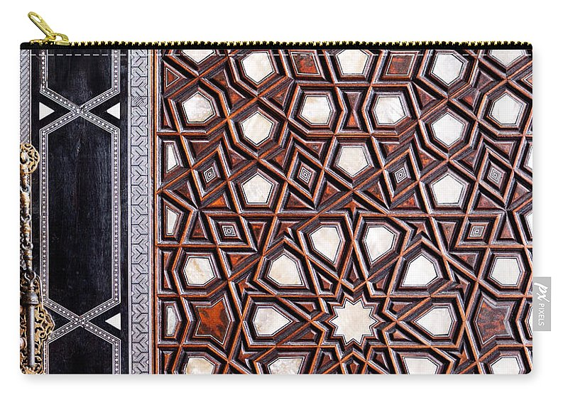 Istanbul Carry-all Pouch featuring the photograph Sultan Ahmet Mausoleum Door 01 by Rick Piper Photography