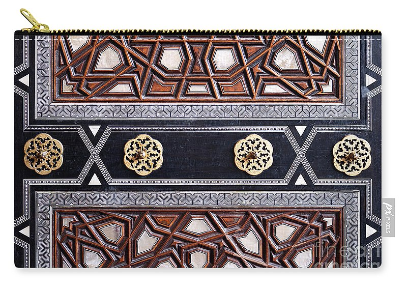 Istanbul Carry-all Pouch featuring the photograph Sultan Ahmet Mausoleum Door 03 by Rick Piper Photography