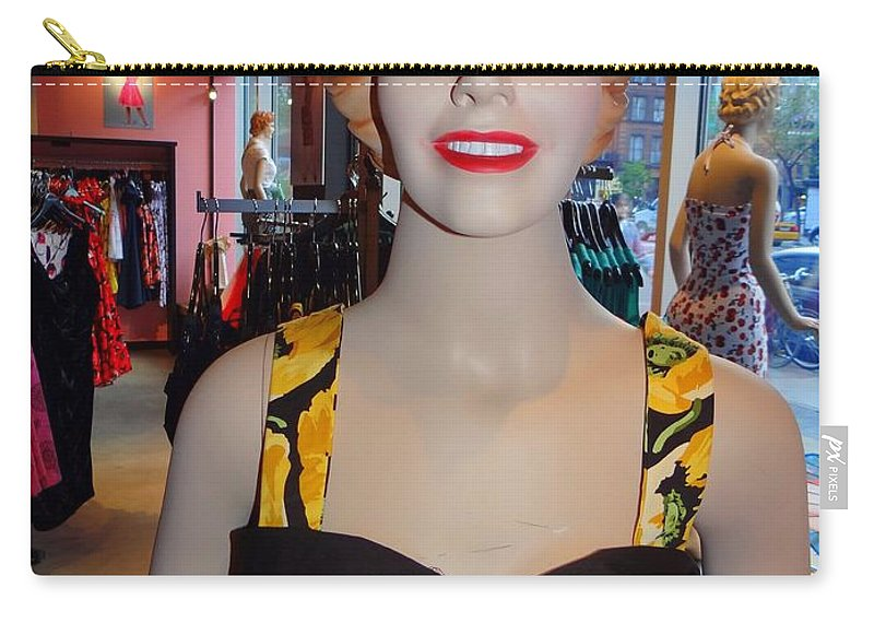 Mannequins Carry-all Pouch featuring the photograph Sultry In Sunflowers by Ed Weidman