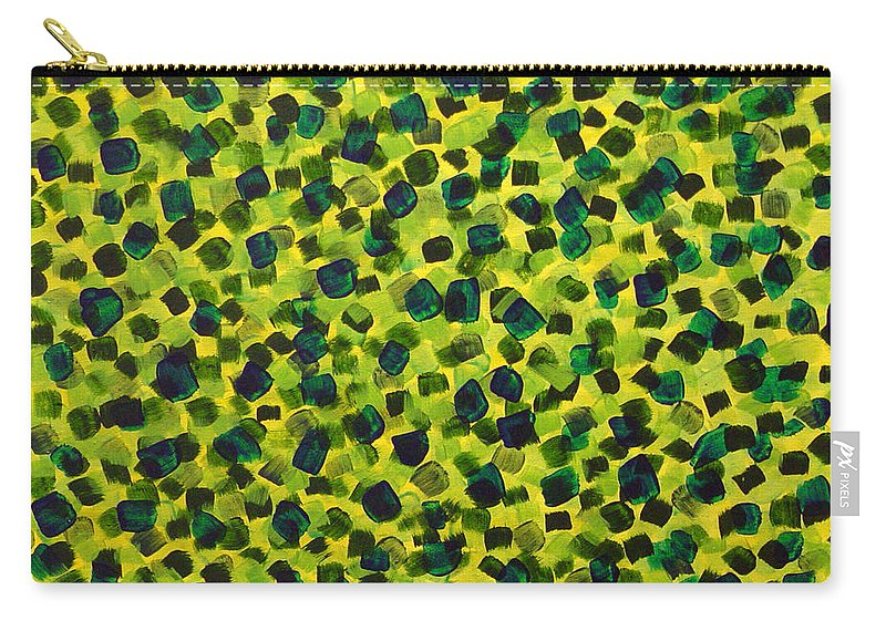 Abstract Carry-all Pouch featuring the painting Sunlight Through The Trees 2 by Dean Triolo