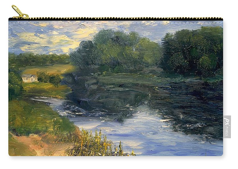 Landscape Carry-all Pouch featuring the painting Summer At Jackson Lake by Gail Kirtz