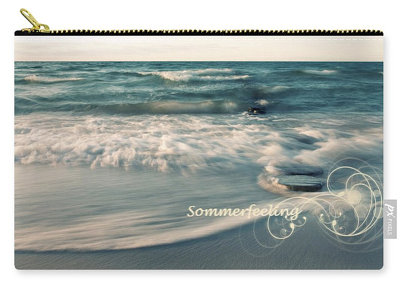 Ostsee Carry-all Pouch featuring the pyrography Summer Beach by Steffen Gierok