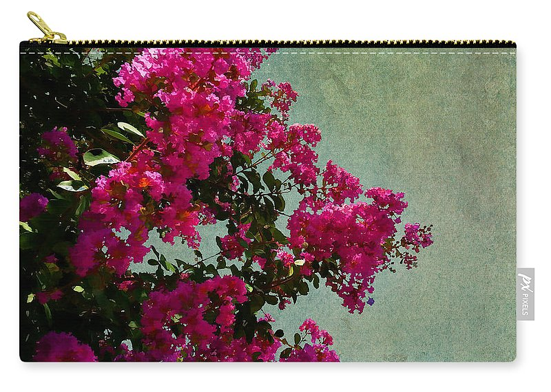 Nature Carry-all Pouch featuring the photograph Summer Crape Myrtles by Paulette B Wright