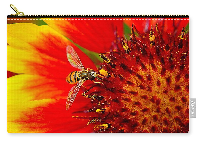 Buzz Carry-all Pouch featuring the photograph Summer Day by Frozen in Time Fine Art Photography