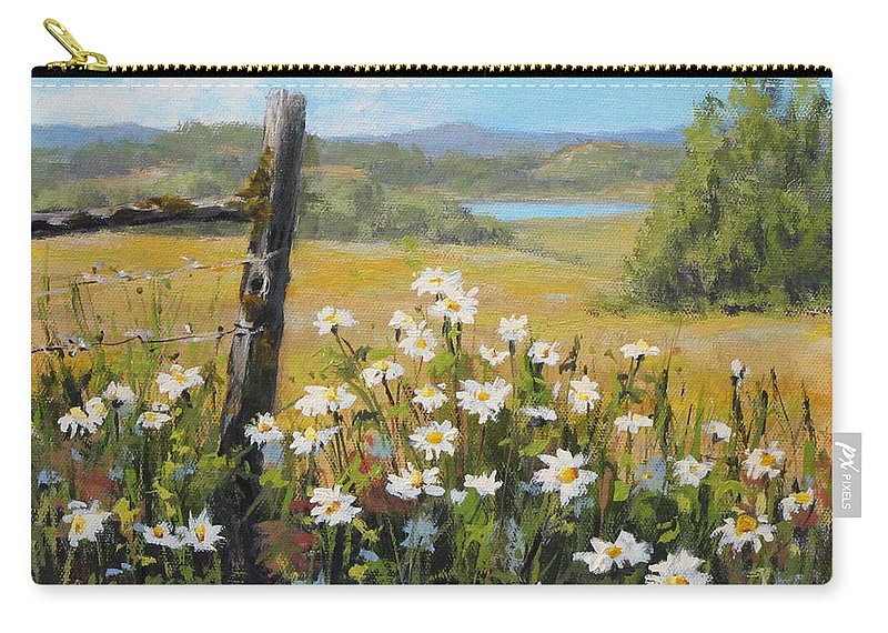 Original Carry-all Pouch featuring the painting Summer Daydream by Karen Ilari