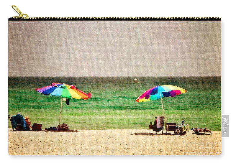 Beach Carry-all Pouch featuring the photograph Summer Days At The Beach by Scott Pellegrin