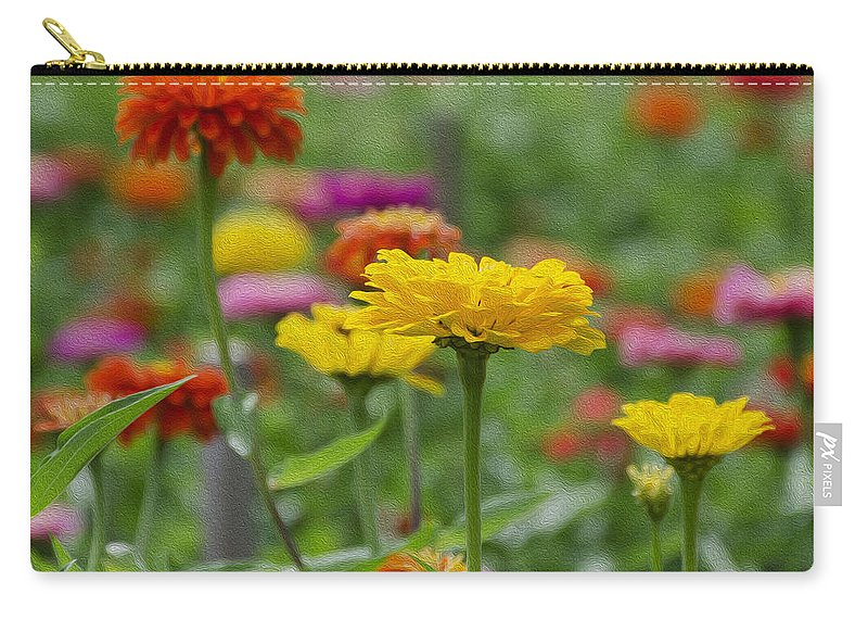 Summer Carry-all Pouch featuring the photograph Summer Flowers by Bill Cannon