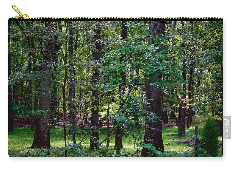 Nature Carry-all Pouch featuring the photograph Summer Forest by Paulette B Wright