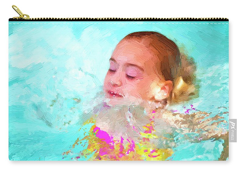 Swim Carry-all Pouch featuring the photograph Summer Fun by Angela Stanton