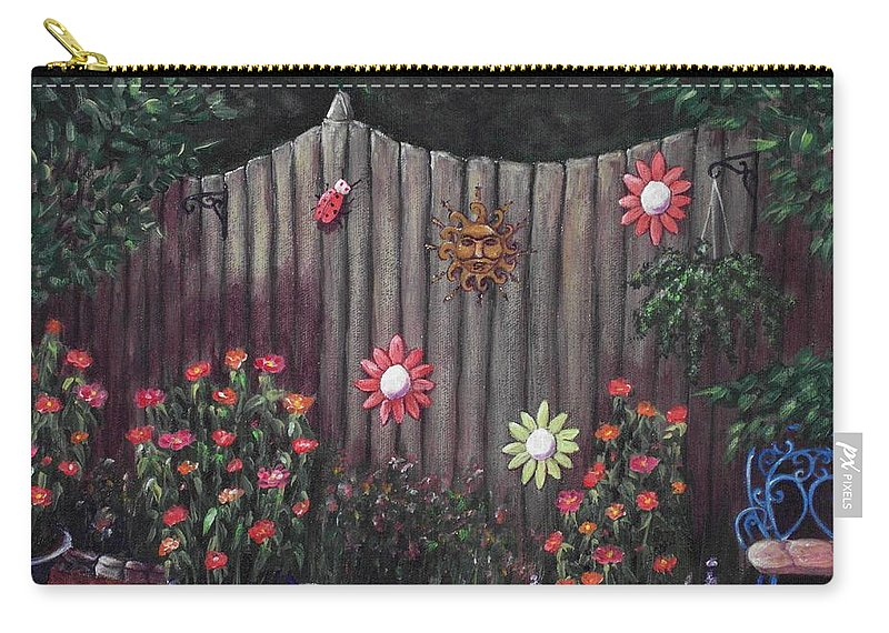 Plant Carry-all Pouch featuring the painting Summer Garden by Anastasiya Malakhova