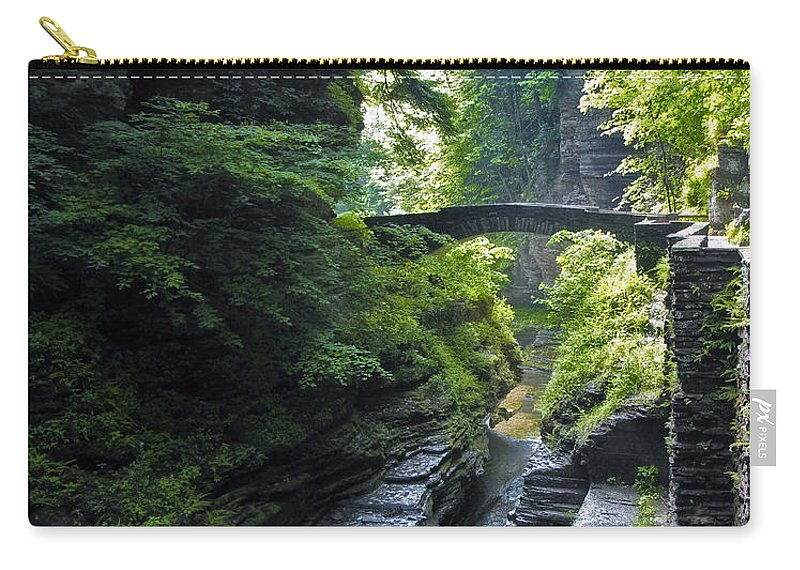 Nature Carry-all Pouch featuring the photograph Summer Gorge by Jessica Jenney