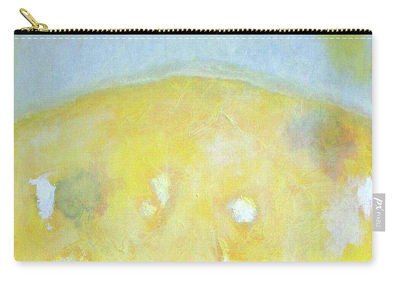 Abstract Carry-all Pouch featuring the painting Summer Ice Cream Stains No 2 by Vesna Antic