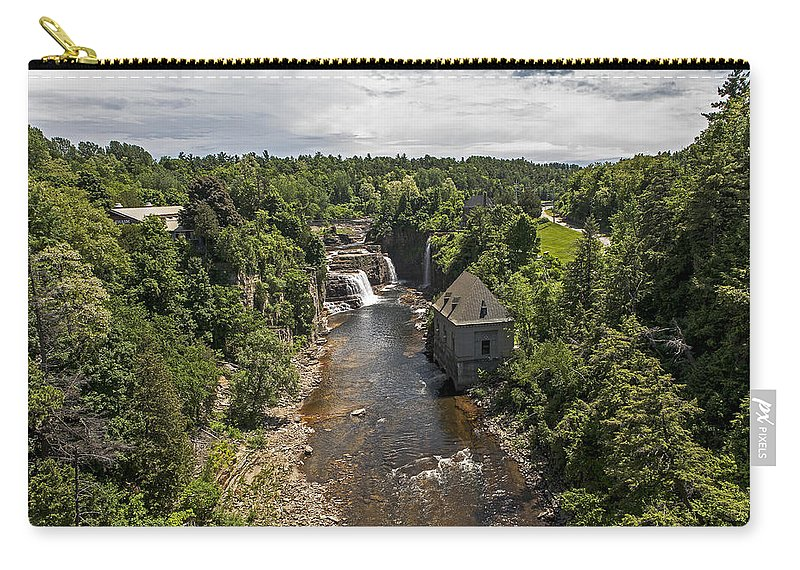 Ausable Chasm Ny Carry-all Pouch featuring the photograph Summer In Asuable Chasm by Eric Swan