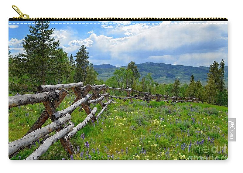 Landscape Carry-all Pouch featuring the photograph Summer In The Mountains by Crystal Miller