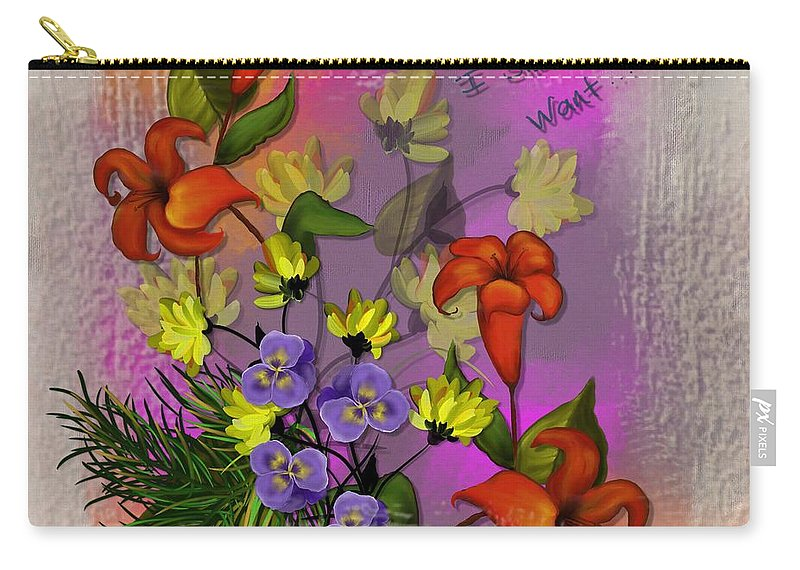 Lily Carry-all Pouch featuring the painting Summer Inspiration by Nancy Long