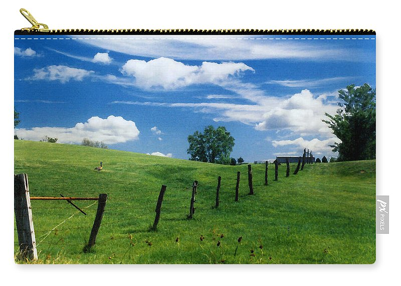 Summer Landscape Carry-all Pouch featuring the photograph Summer Landscape by Steve Karol