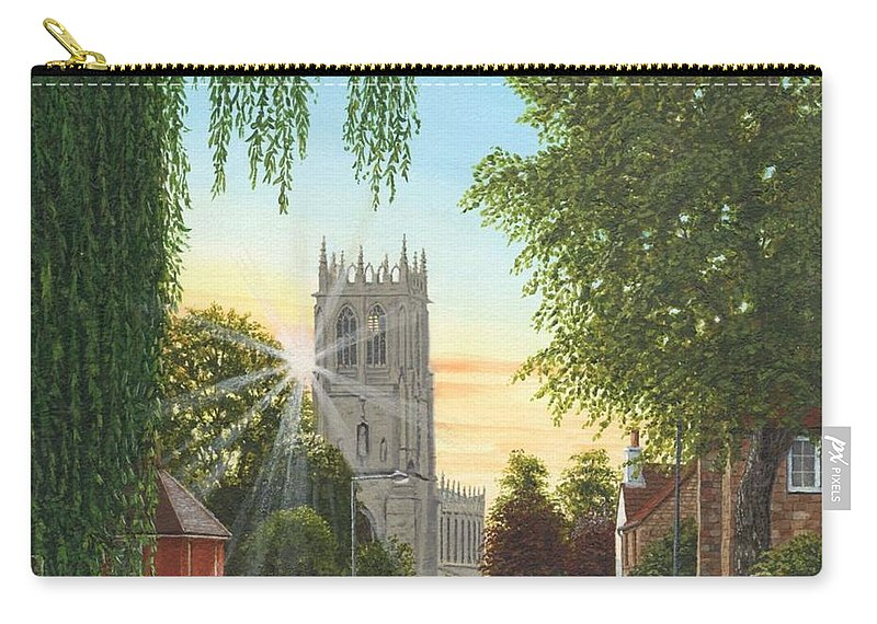 Landscape Carry-all Pouch featuring the painting Summer Morning St. Mary by Richard Harpum