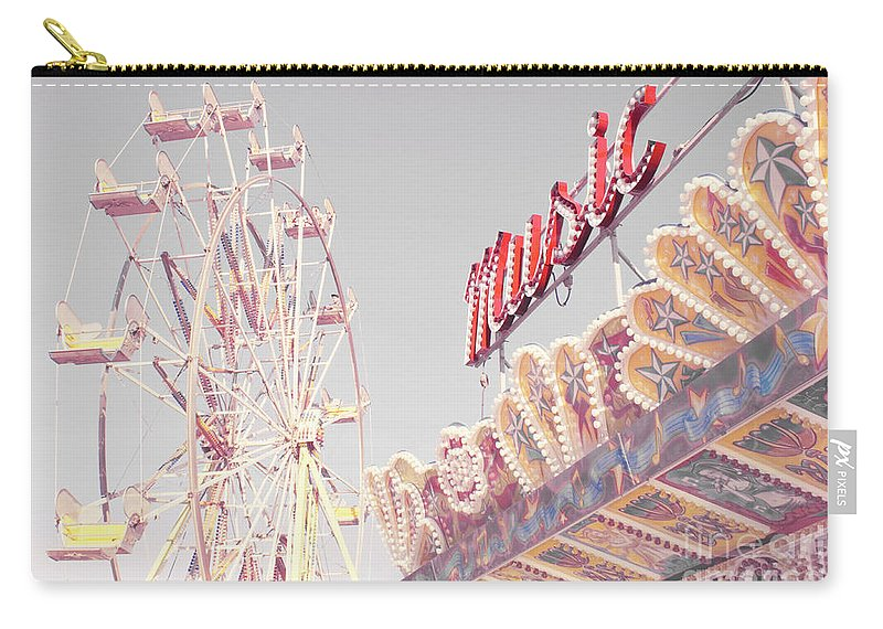 Amusement Park Carry-all Pouch featuring the photograph Summer Music by Cindy Garber Iverson