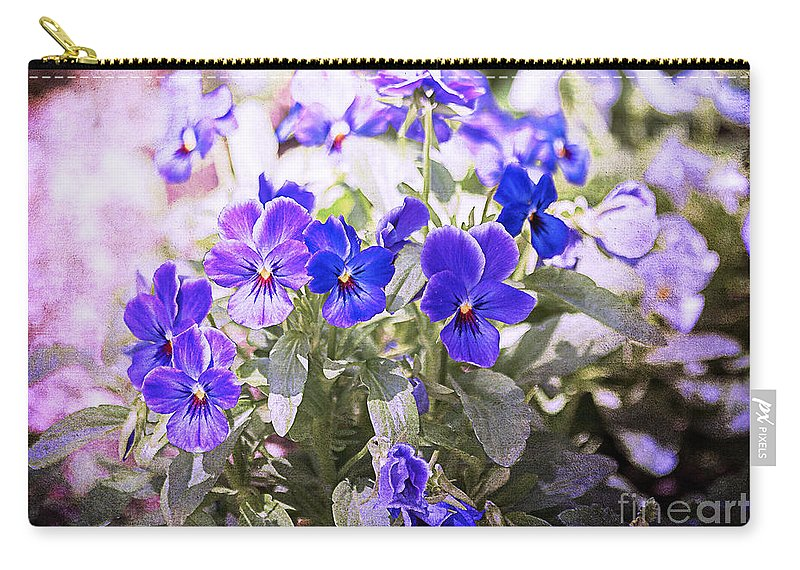 Summer Carry-all Pouch featuring the photograph Summer Pansies by Janice Pariza