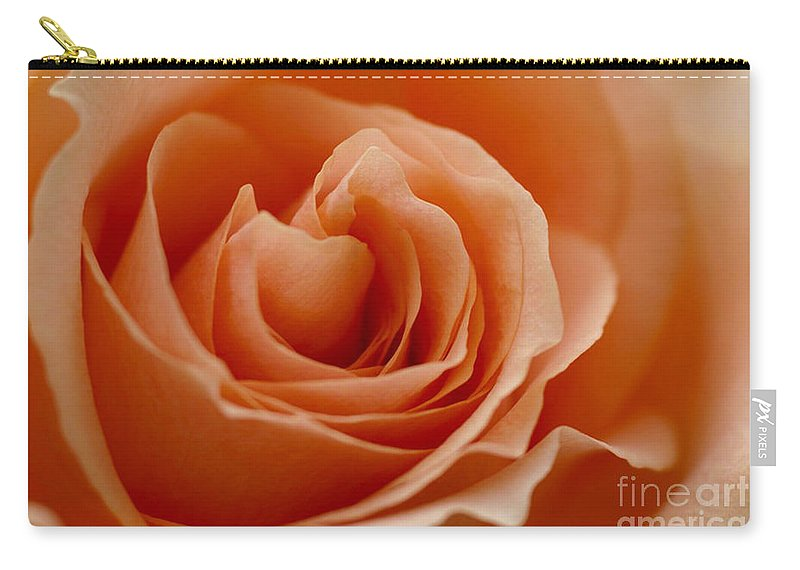 Peach Carry-all Pouch featuring the photograph Summer Peach by Carol Lynch