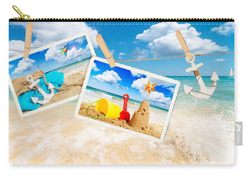 Beach Carry-all Pouch featuring the photograph Summer Postcards by Amanda Elwell