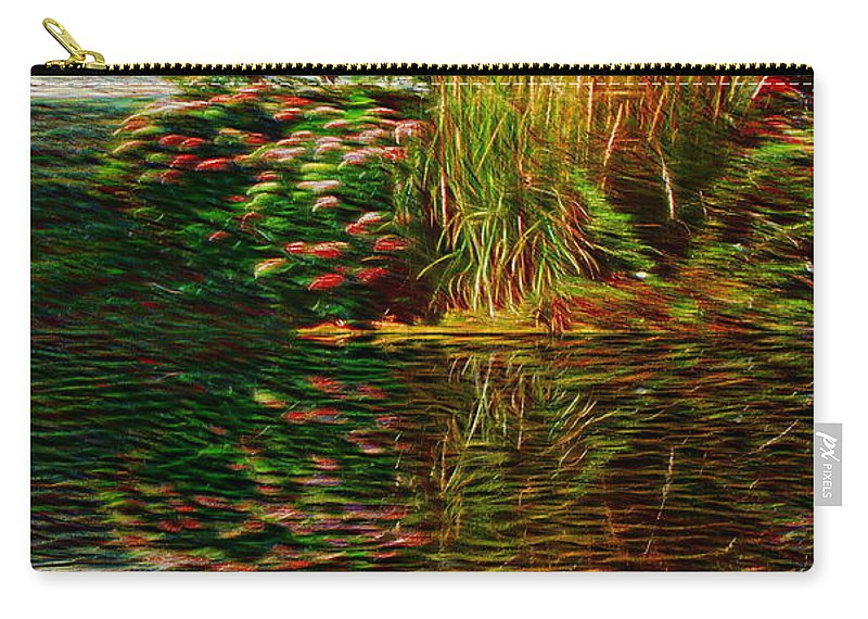 Nature Carry-all Pouch featuring the photograph Summer Reflections by Ellen Cannon