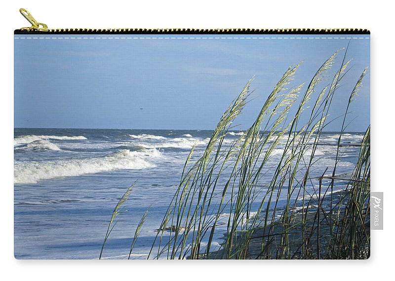 Sea Oats Carry-all Pouch featuring the photograph Summer Sea Oats by Carol Luzzi